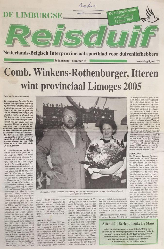 Limburgse Reisduif 2005 - pag 1
