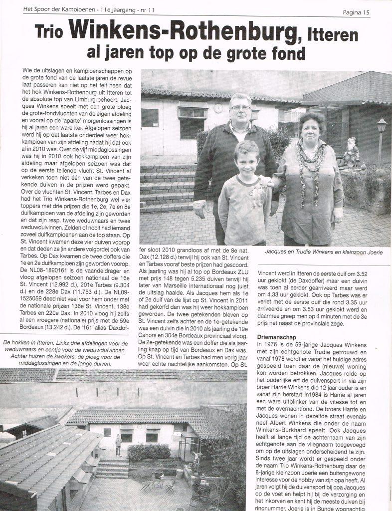 Spoor - Rapportage 2012 - pag 1